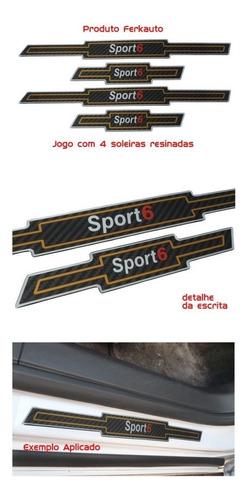jogo soleira resinada carbono cruze sport6 - 4 peças