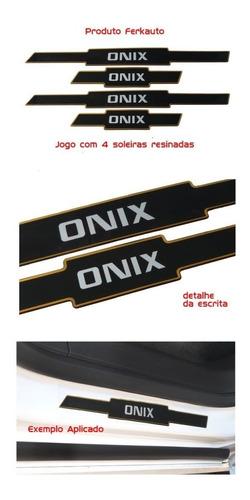jogo soleira resinada preto gm onix 4 peças - diadema
