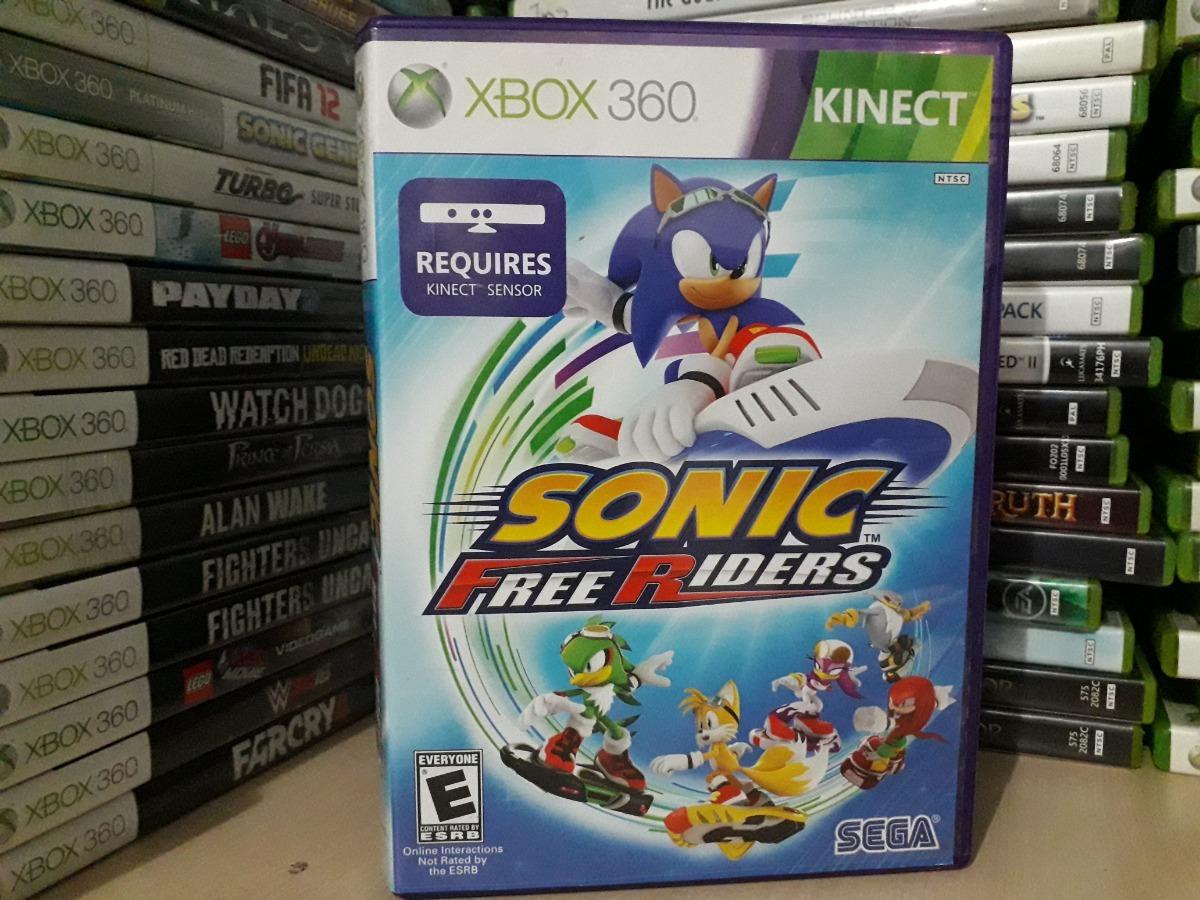 Jogo Sonic Free Riders Xbox 360 Original Mídia Para Crianças