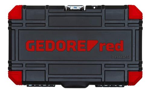 jogo soquete sextavado gedore red 1/4 com 46 peças r49003046