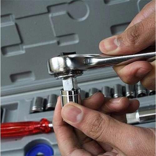 jogo soquetes catraca manuais profissional peças ferramentas