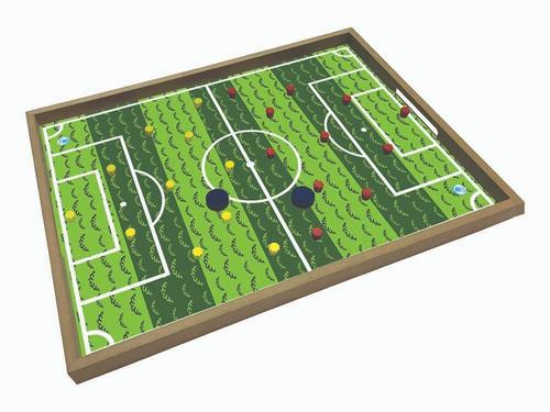 jogo tabuleiro futebol dedo gol
