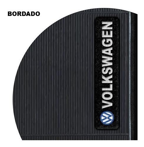 jogo tapete borracha logo bordado  da volks gol g4 g5 g6