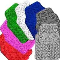 jogo tapete cromado automotivo varias cores 5 peças fiat uno