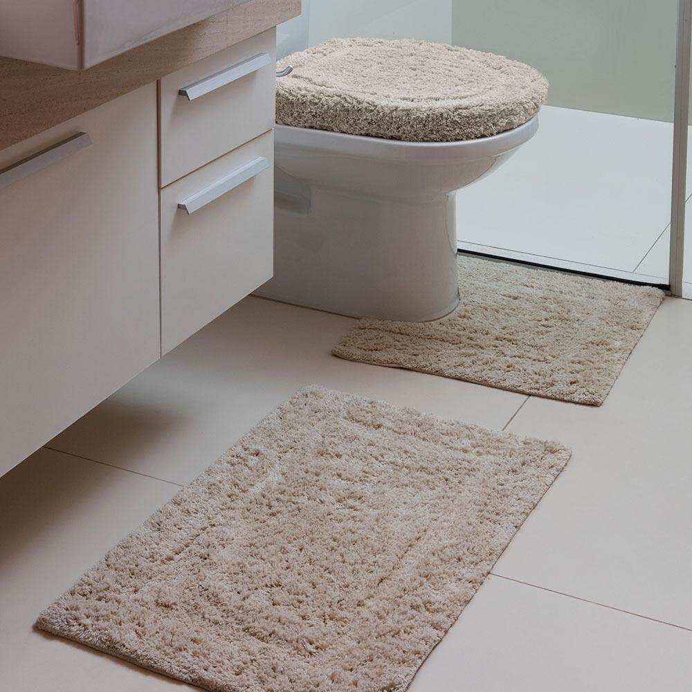 42507f9902 jogo tapete de banheiro capri mirante bege 3 peças - corttex. Carregando  zoom.