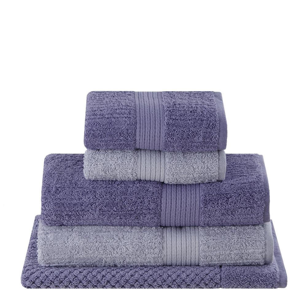 b50228d94 jogo toalhas banho buddemeyer 5 peças fio penteado lilás. Carregando zoom.