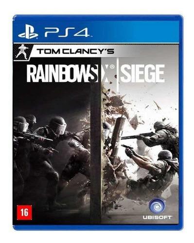 jogo tom clancy's rainbow six siege mídia física - ps4