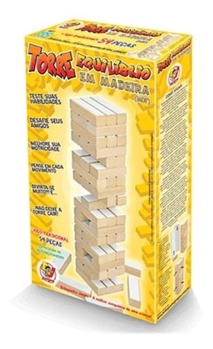 jogo torre equilibrio em madeira estilo jenga junges