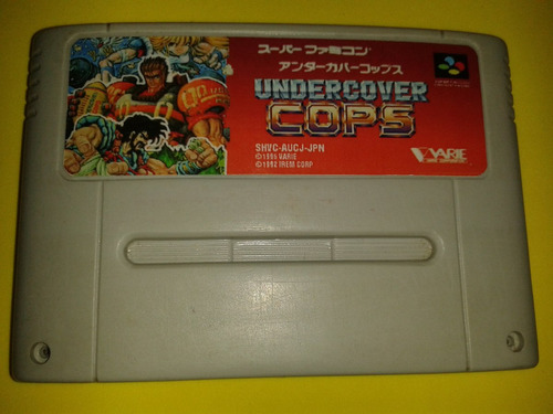 jogo under cover cops para super nintendo super famicom snes