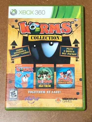 jogo worms collection xbox 360 mídia física seminovo