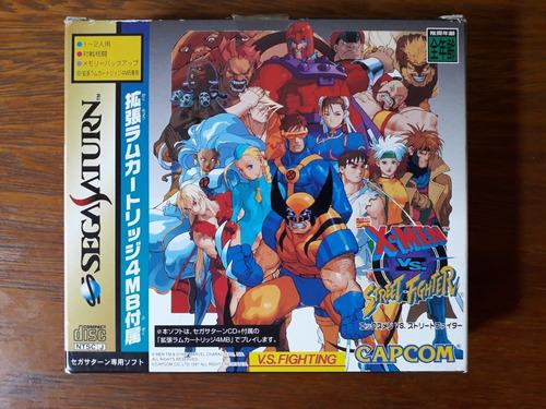 jogo x-men vs. street fighter sega saturn original japonês