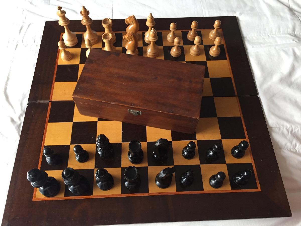 dc02122bb01 Jogo xadrez tabuleiro madeira antigo vintage carregando zoom jpg 1200x900  Jogo xadrez tabuleiro