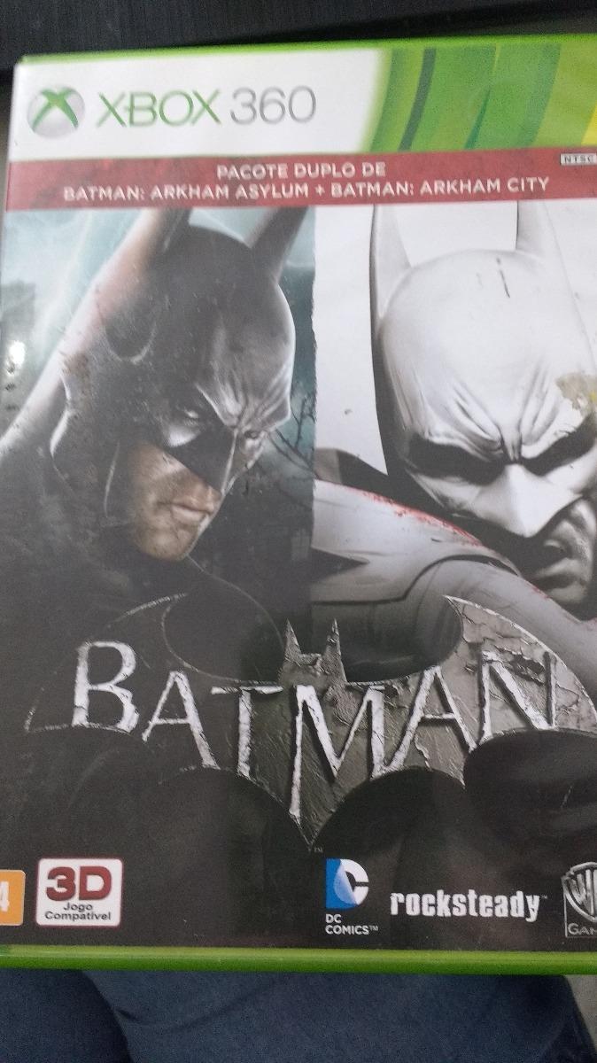 Jogo Xbox 360 Batman - Arkham Asylum + Arkham City - R  45 0b562cfbadb