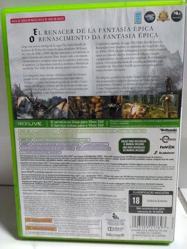 jogo xbox 360 original skyrim v the elder scrolls kinect