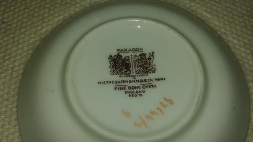 jogo xícara e pires inglês paragon - 4 peças - porcelana