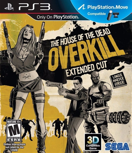 jogo zumbi play 3 ps3 the house of the dead overkill novo