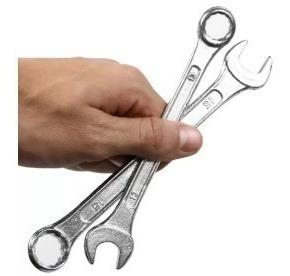 jogo12 chaves estrela boca combinada ferramentas mecanico