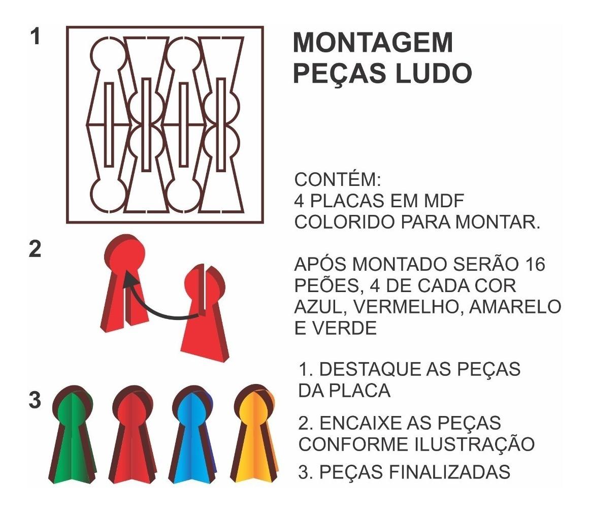Jogos 5 Em 1 Xadrez Dama Trilha Ludo Domino R 54 50