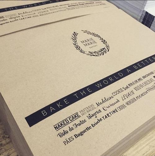 jogos americanos em papel kraft personalizados c/1000 unds