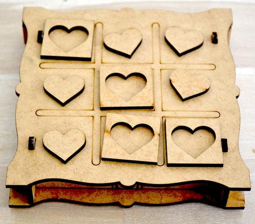 jogos da velha coração mdf - lembracinha