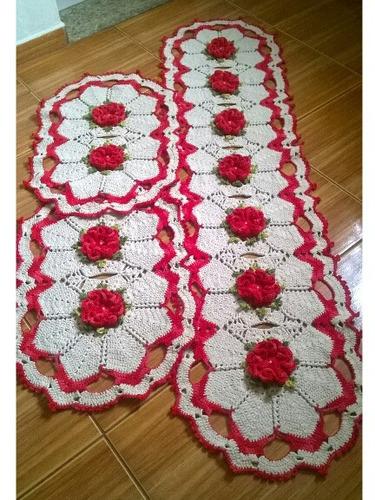 jogos de crochê  4 tapetes