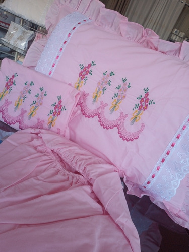 jogos de lençol bordados