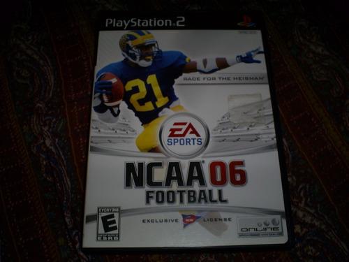 jogos originais ps2 - completos e 100% - ncaa footbal 06