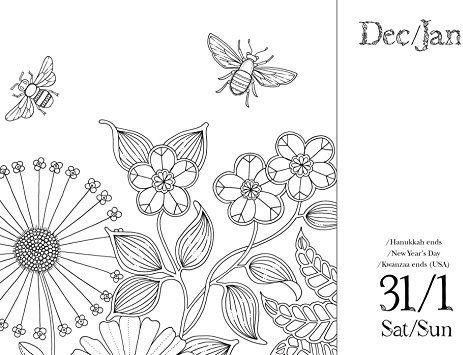 Johanna Basford 2017 Para Colorear Día A Día Del Calendario ...