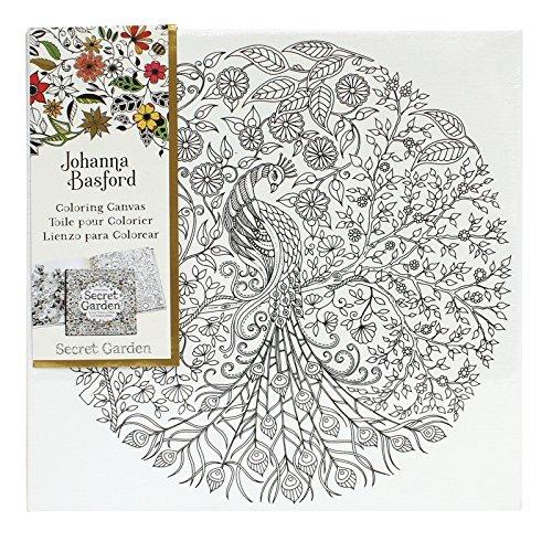 Johanna Basford Jardín Secreto Lona Para Colorear - Peacock ...