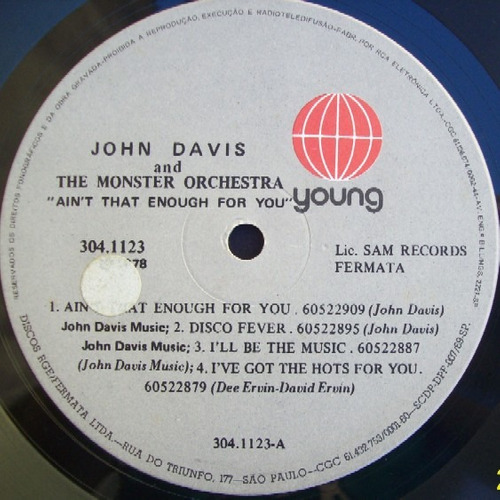 john davis monster orchestra  lp  aint that enough for you