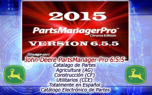 john deere catalogo de partes (partsmanager pro 6.5.5) 2016