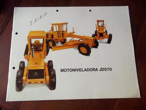 john deere jd570 motoniveladora catalogo antiguo en la plata