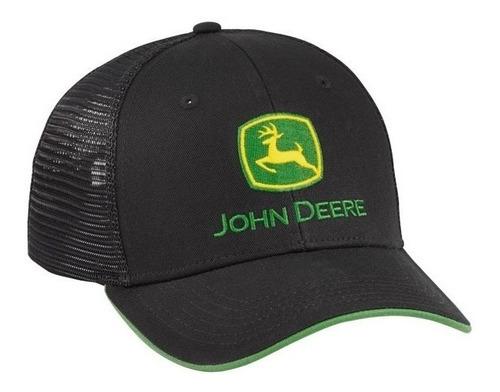 john deere malla negro visera verde bordado snapback origina
