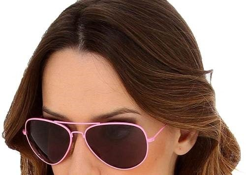 800ea455f John John Original Óculos Sol Aviador Feminino Armação Rosa - R$ 138 ...
