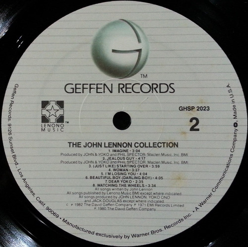 john lennon collection lp