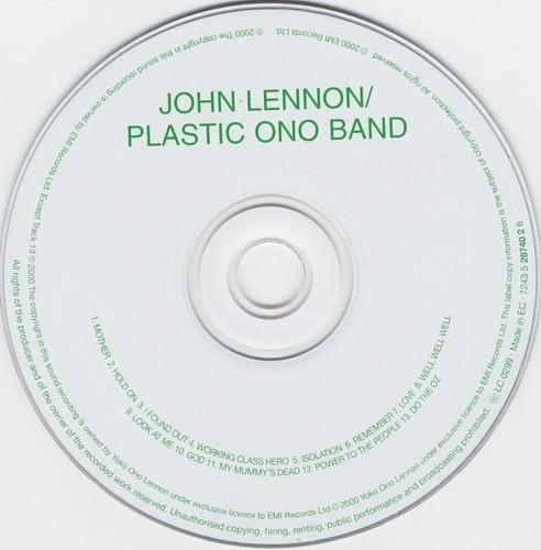 **john lennon  **plastic ono band  **cd remaster 2005**