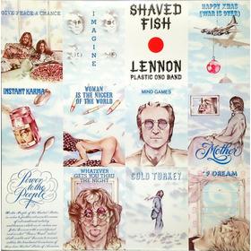 John Lennon Plastic Ono Band Lp Shaved Fish 1975 + Enc 13591
