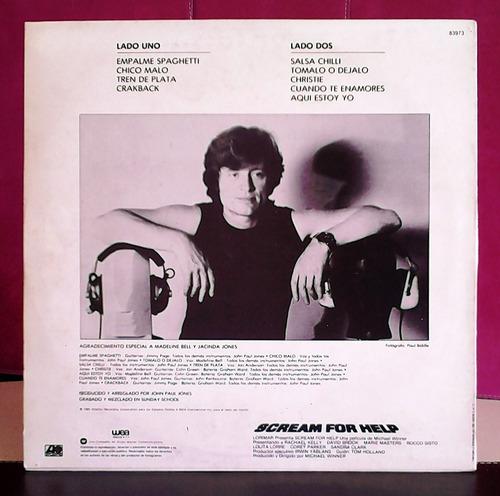 john paul jones, scream for help, vinilo, lp, soundtrack.