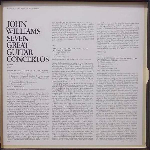 john williams seven great guitar concertos