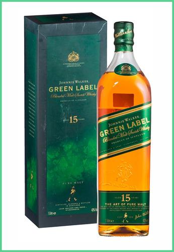 johnnie walker green label 1lt estuche buen chupi zona nort