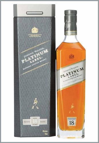 johnnie walker platinum label 750ml con estuche buen chupi