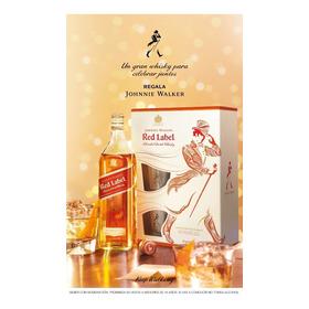 Johnnie Walker Red Label + 2 Vasos Edición Especial Regalo