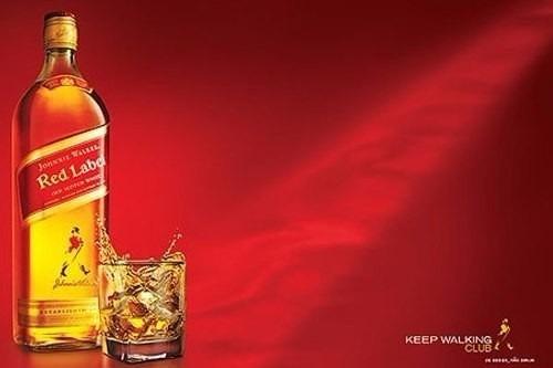 johnnie walker red label 750ml 100% whisky original