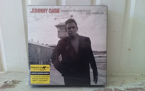 johnny cash - box set vinilo 7+ t- shirt imperdible oferta