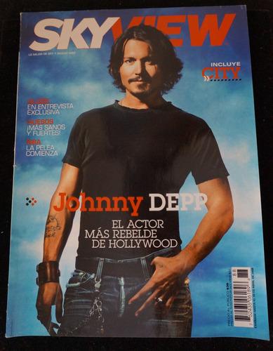 johnny depp , alizée , eugenio derbez revista sky 2008