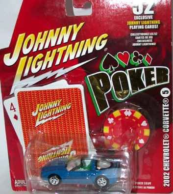 johnny lightning 2002 chevy corvette poker (lacrado)