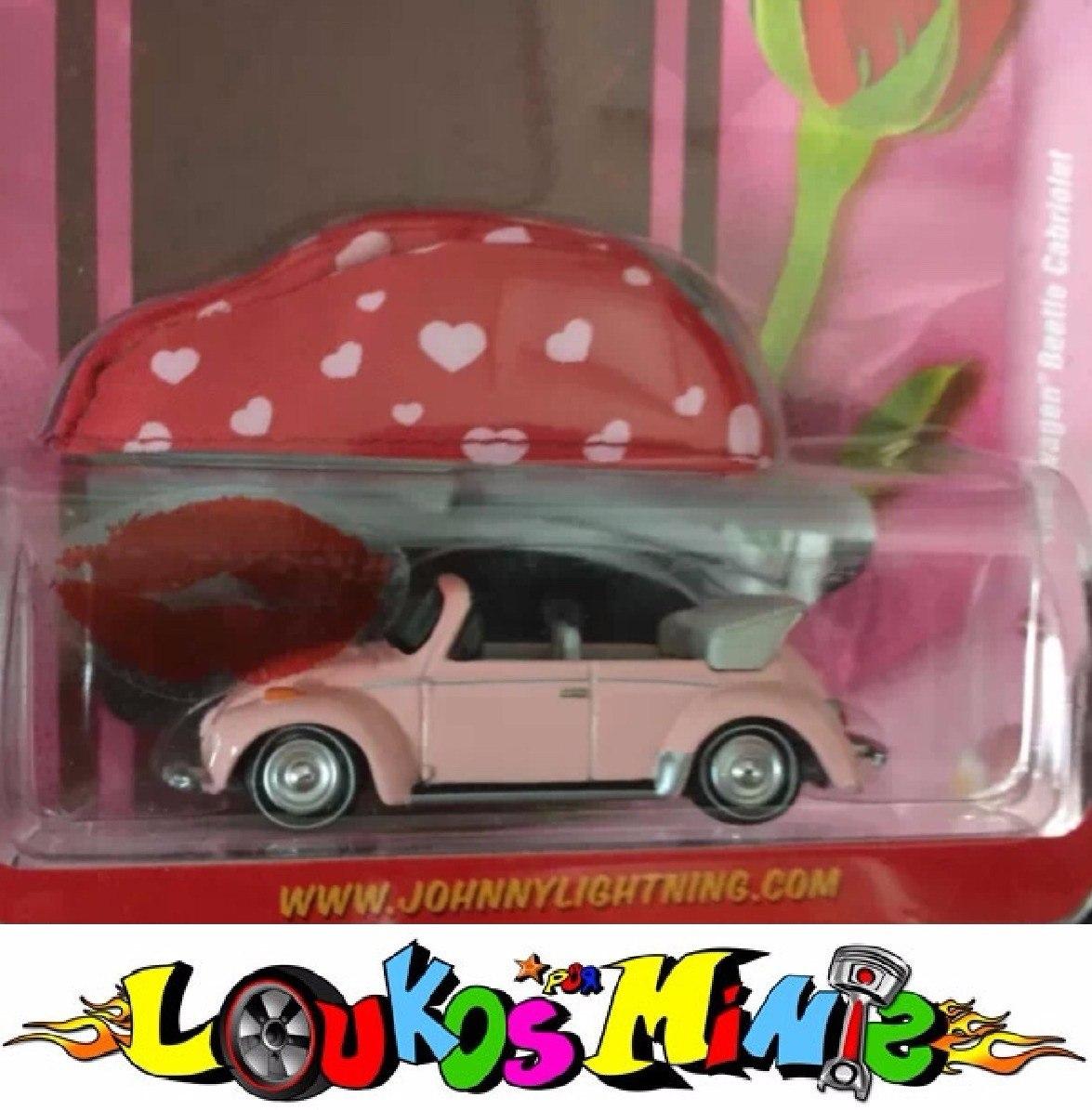 Loukosporminis Johnny Lightning 75 Vw Beetle Cabriolet Fusca Rosa Pink 1 64 R 199 99