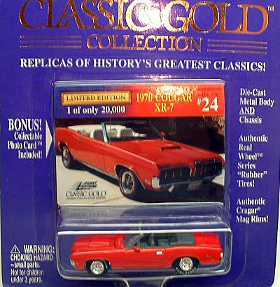 johnny lightning classic gold 1970 mercury cougar xr7 (novo)