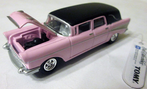 johnny lightning - ertl - 1957 chevy hearse, carro fúnebre.