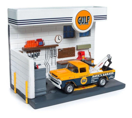johnny lightning gulf service center diorama 1/64